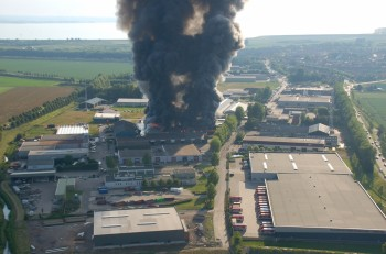 Brand op industrieterrein zeeland juni 2009