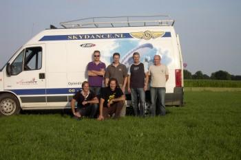 Dagje vliegen met Skydance fans augustus 2009